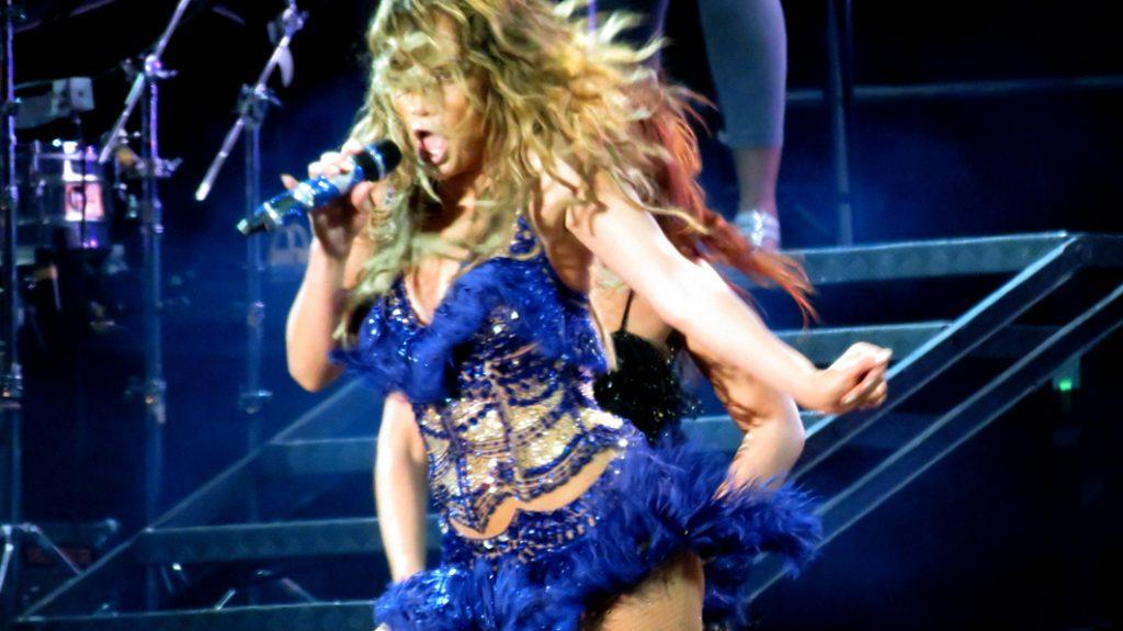 Jennifer Lopez at the Pop Music Festival